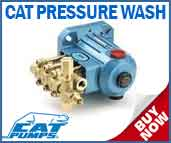 Cat Pressure Wash Pumps