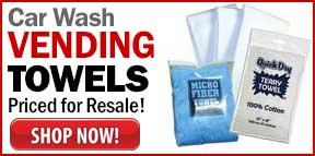 Car Wash Vending Towels