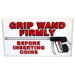 """Grip Wands Firmly"" Sign"