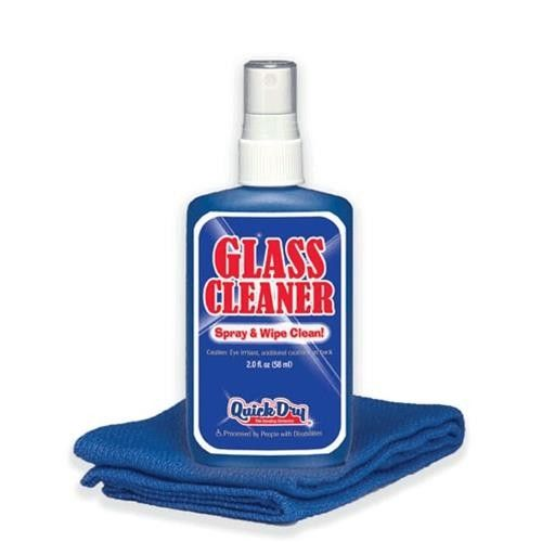 Quick dry 2 oz glass cleaner and microfiber towel 100 for Glass cleaning towels
