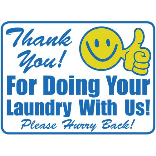 thank you laundry sign