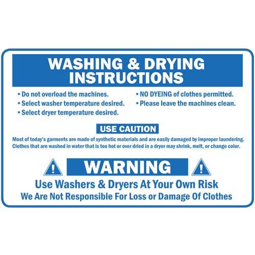 p on washing instructions