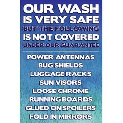 Automatic Instructions Sign Blue And White Kleen Rite
